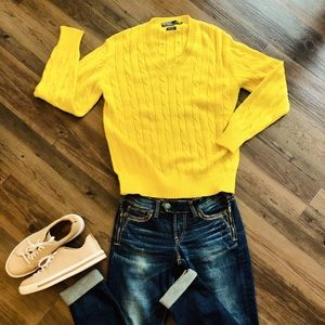 Polo by Ralph Lauren Canary Yellow Sweater.